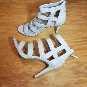 White House Black Market light nude Kenzie heels